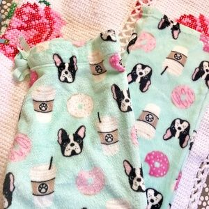 Other - Frenchies & Coffee Cozy PJ Pants NWOT